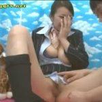 CAコスプレした神美女を手マンでコキコキ【マジックミラー号-MM号無料動画】