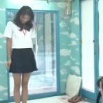 制服JKのコスプレした美女が全裸であらわにwww【マジックミラー号-MM号無料動画】