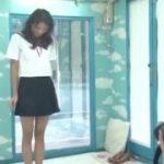 可愛いスカートのセーラー服に着替えた美女がエロセックスww【マジックミラー号-MM号無料動画】