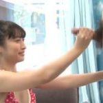 ポニーテールの目がぱっちり美少女が驚きながら手コキwwwww【マジックミラー号-MM号無料動画】