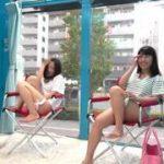 二人の美少女が自ら電マをあててオナニーしているところでセンズリしちゃう男性www【マジックミラー号-MM号無料動画】