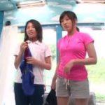 日焼けあとがエロ水泳部の二人の美少女がエロマッサージの餌食www【マジックミラー号-MM号無料動画】