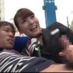 童貞のペニスをしごく童顔なCA制服お姉さんwww【マジックミラー号-MM号無料動画】
