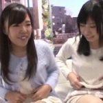 ビッチな二人の女子大生が可愛い笑顔で恥じらいの3Pセックスをww【マジックミラー号-MM号無料動画】
